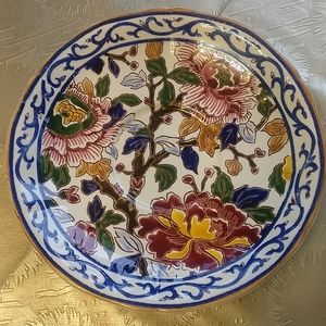 🇨🇦 Two Gien faience hand painted dessert plates